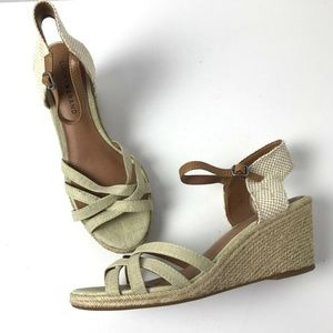 Lucky Brand Espadrille Wedge Sandals NWOB #A14